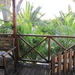 Terrasse vor Bungalow Nummer 606