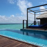 Private swimming pool and sun deck