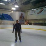 Inside ice rink