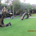 The beautiful Dragon in one of the Hotel Lawns
