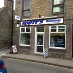 Front of Tootys Take-away
