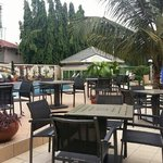 Pool side restaurant at Alisa Hotels