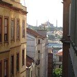 Blick vom Balkon auf die Hagia Sofia