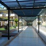 Corridor to suites