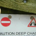Chasm's are deep within the local sceneary!