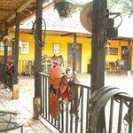 Estancia patio area - Horse launching area  - Fun times!