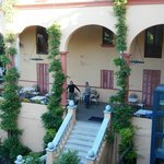 Hotel courtyard....