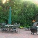 Back patio and fire pit