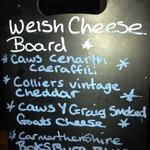 Cheese board at local pub - The White Swan
