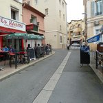 Restaurant opposite the fish mongers