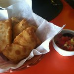 fried dough with salsa