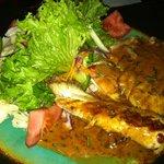 makona fish with 5 pepper sauce