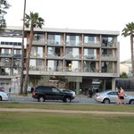 The front of the Shore Hotel