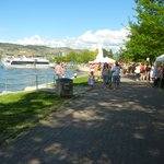 Okanagan lake and the boating area from the Park