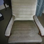 Threadbare faded upholstery