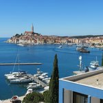 The harbor and view of old town Rovinj