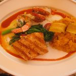 wood grilled salmon & shrimp