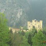 Vista da varanda do quarto do Castelo de Hohenschwangau