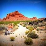 Biking on Inspiration Trail at Red Mountain