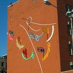 Art on the nearby school