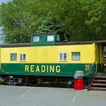 The Reading caboose we stayed in