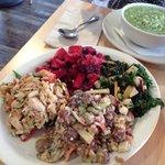 Salad Sampler - lots of food