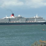 RMS. Queen Victoria from hotel terrace