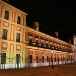 San Telmo Palace at night