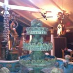 Handmade fountain brings ambiance!
