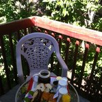 Our breakfast served on our balcony.