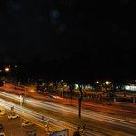 Vista su via Cristoforo Colombo di notte