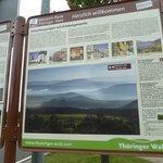 Thuringer Wald Sign at Rest Area