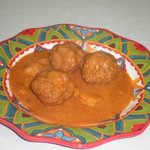 mexican meatballs  in adobo   sauce