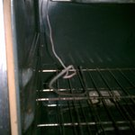 nice oven fire hazard i can sleep well seeing that...dont stay