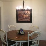 Dining area in Casita
