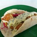"""Los Friolentos """"Taco tipo ensenada"""" Pescado o Camaron, en Harina o Maiz, Deliciosos Aderezos"""