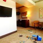 Adventure theme family suite living room
