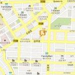 this map in Korean will help the taxi driver / cette carte en coréen sera utile pour le chauffeu