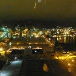 ラビスタ函館ベイから見た金森赤レンガ倉庫。