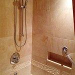 Marbled spa shower