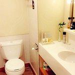 Bathroom- spotlessly clean,