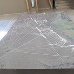Maquette des lignes de Nazca dans le lobby