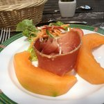 Perfectt ham and melon starter