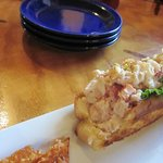 Zesty Lemon Lobster Roll (notice I had already taken a bite!!)