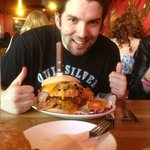 The fully loaded Kong burger!
