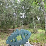 """""""Das Eichenblatt"""" im Wald des Skulpturenparks"""