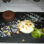 Postre - chocolate caliente -- hummmmm