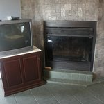 fireplace of suite