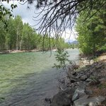 Methow River running along the grounds