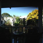 View of the garden from the Breakfast Dining Room